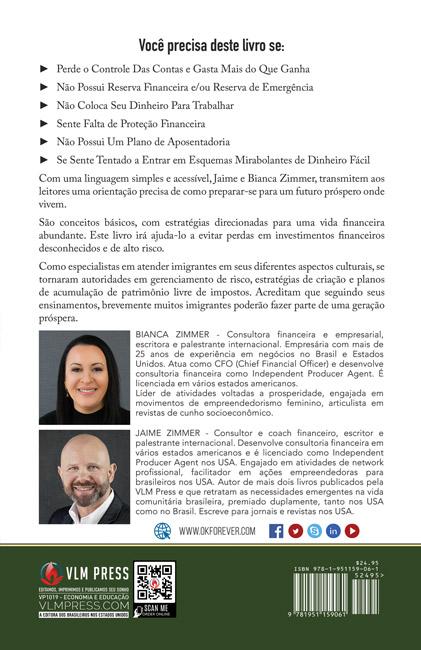 Educação Financeira para Imigrantes by Bianca e Jaime Zimmer capa traseira